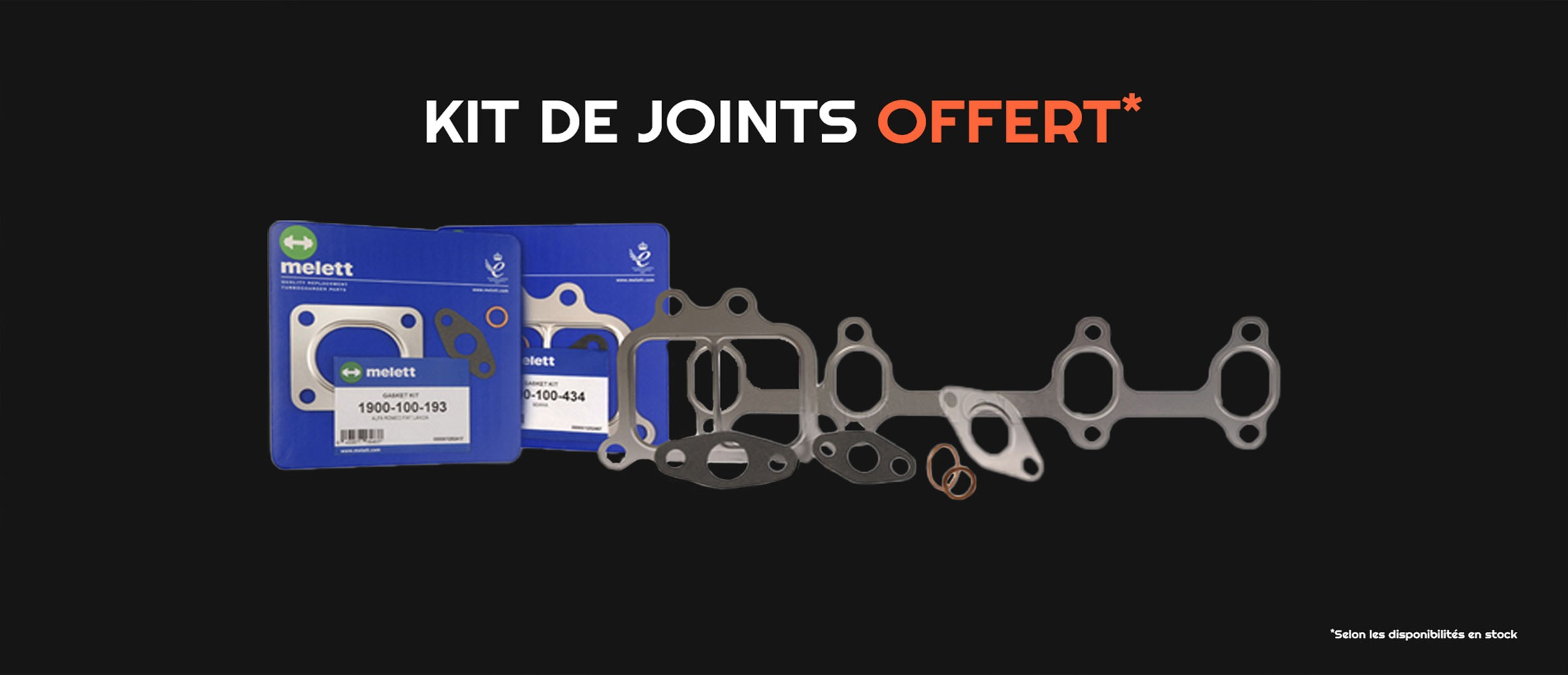 Kit de joints offert